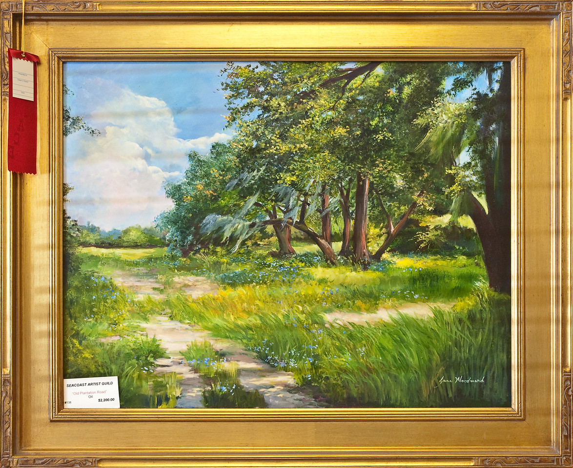 Name: Old Plantation Road<br /> Medium: Oil<br /> Size: 28x22<br /> Price: $2200<br /> Contact: Jane Woodward<br /> E-Mail:  JaneWoodward@msn.com