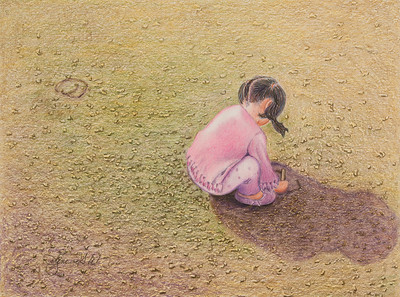Name: Drawing In Texas Sand #2 Medium: Colored Pencil  Size: 8 1/2 X 11 Price: $ Contact: Jolene Stinson Williams  Email: jolenestinson@yahoo.com  Contact Jolene to purchase prints