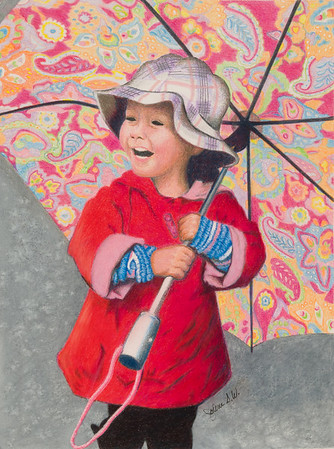 Name: Laughing In The Rain Medium: Colored Pencil  Size: 9 X 12 Price: $ Contact: Jolene Stinson Williams  Email: jolenestinson@yahoo.com  Contact Jolene to purchase prints