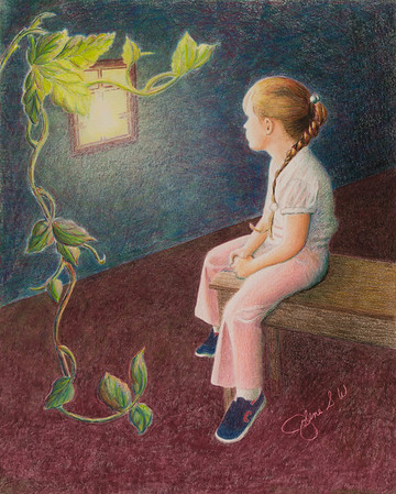 Name: Growing Up Thoughts Medium: Colored Pencil  Size: 11 X 14 Price: $ Contact: Jolene Stinson Williams  Email: jolenestinson@yahoo.com  Contact Jolene to purchase prints