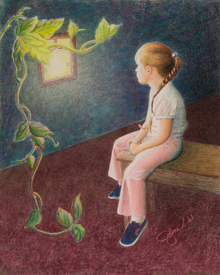 Name: Growing Up Thoughts<br /> Medium: Colored Pencil <br /> Size: 11 X 14<br /> Price: $<br /> Contact: Jolene Stinson Williams <br /> Email: jolenestinson@yahoo.com <br /> Contact Jolene to purchase prints