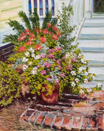 Name: Garden Pot  Medium: Oil on Canvas Size: 16x20 Contact: Kay Langdon E-Mail: kdlangdon@yahoo.com