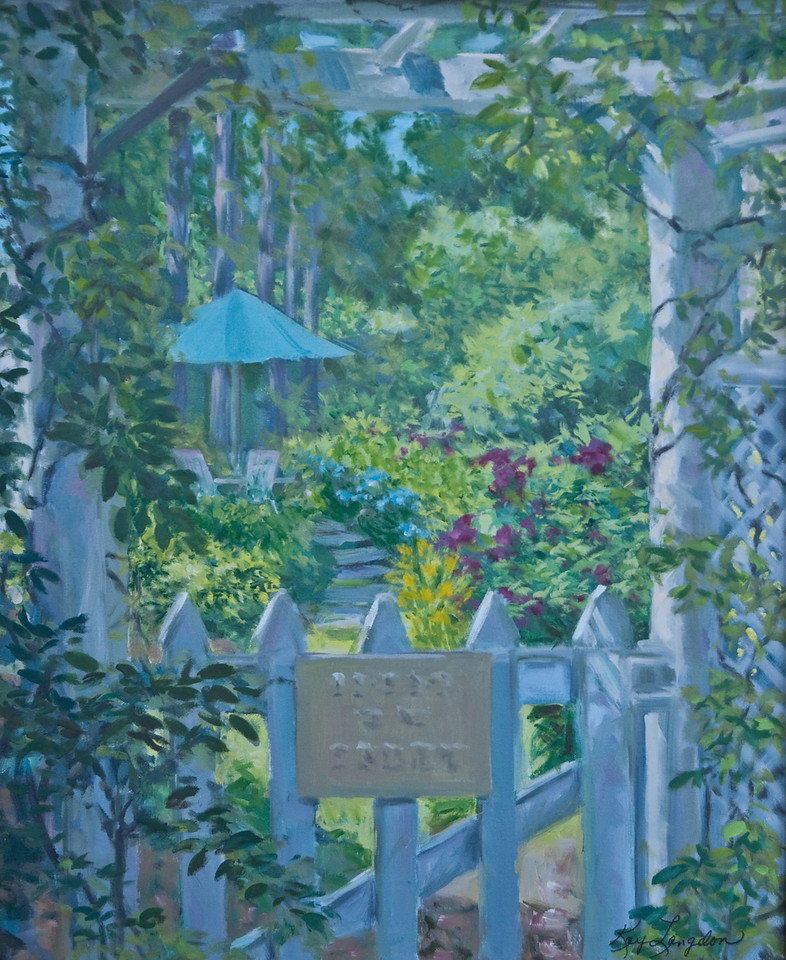 Name: Garden Gate - SOLD<br /> Medium: Oil on Canvas<br /> Size:  20x24<br /> Contact: Kay Langdon<br /> E-Mail: kdlangdon@yahoo.com