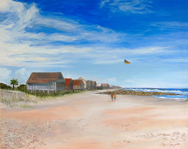 Name: Pawleys Beach - South End Medium: Oil on Canvas Size:  24x30 Contact: Kay Langdon E-Mail: kdlangdon@yahoo.com