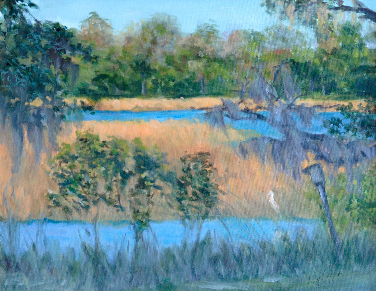 Name: Marsh View<br /> Medium: Oil on Canvas<br /> Size:  16x20<br /> Contact: Kay Langdon<br /> E-Mail: kdlangdon@yahoo.com