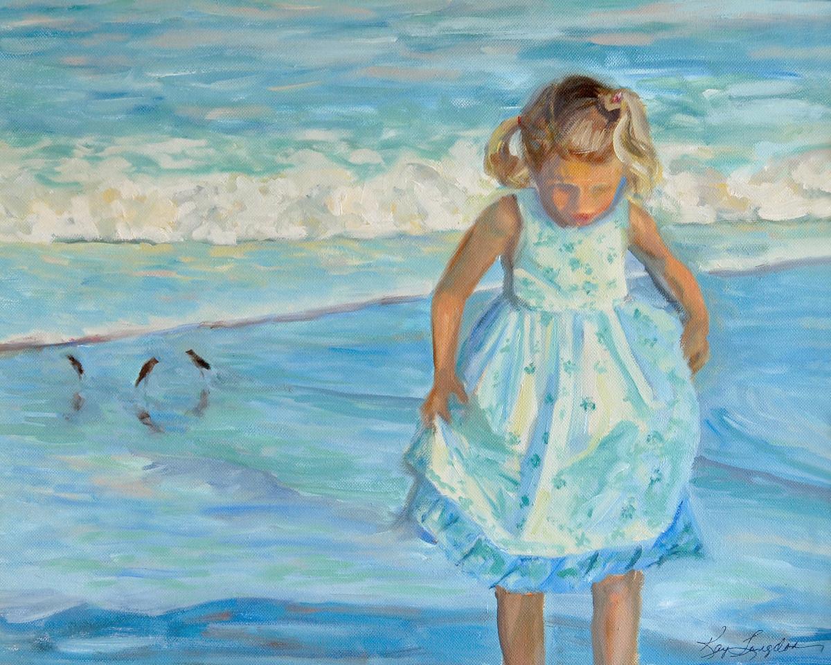 Name: Beach Girl (SOLD)<br /> Medium: Oil on Canvas<br /> Size:  16x20<br /> Contact: Kay Langdon<br /> E-Mail: kdlangdon@yahoo.com