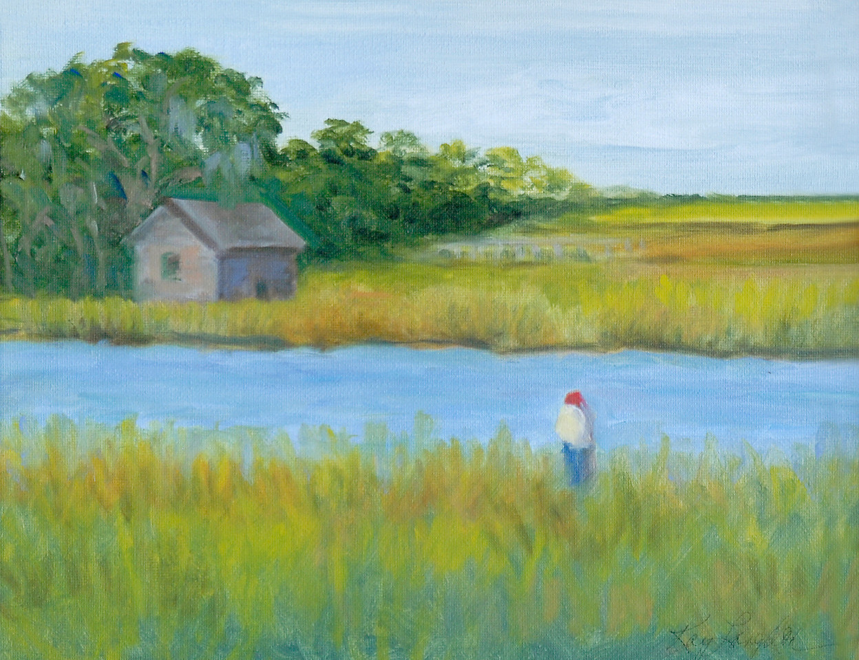Name: Walk In The Marsh - SOLD<br /> Medium: Oil on Canvas<br /> Size:  11x14<br /> Contact: Kay Langdon<br /> E-Mail: kdlangdon@yahoo.com
