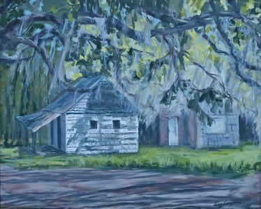 Name: Plantation Slave Cabin - SOLD Medium: Oil on Canvas Size:  24x30 Contact: Kay Langdon E-Mail: kdlangdon@yahoo.com