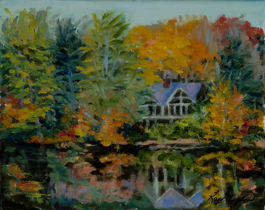 Name: Fall in Highlands, NC (Lake) Medium: Oil on Canvas Size: 8x10 Price: $300 Contact: Kay Langdon E-Mail: kdlangdon@yahoo.com