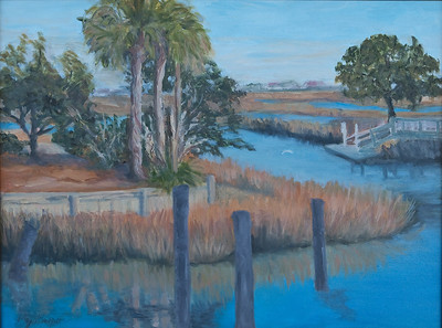 Name: Murrells Inlet Marsh View (SOLD) Medium: Oil on Canvas Size:  18x24 Contact: Kay Langdon E-Mail: kdlangdon@yahoo.com
