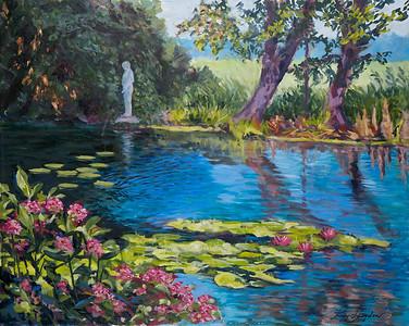 Name: Magnolia Gardens - SOLD Medium: Oil on Canvas Size: 24X30 Contact: Kay Langdon E-Mail: kdlangdon@yahoo.com