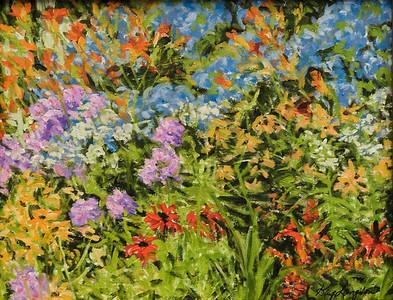 Name: Summer Garden Medium: Oil on Canvas Size:  12x16 Contact: Kay Langdon E-Mail: kdlangdon@yahoo.com