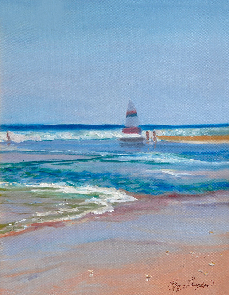 Name: Pawleys Beach, SOLD<br /> Medium: Oil on Canvas<br /> Size:  11x14<br /> Contact: Kay Langdon<br /> E-Mail: kdlangdon@yahoo.com