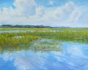 Name: Huntington Marsh View Medium: Oil on Canvas Size:  16x20 Contact: Kay Langdon E-Mail: kdlangdon@yahoo.com