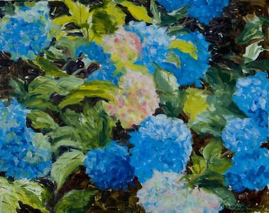 Name: Hydrangeas Medium: Oil on Canvas Size: 16x20 Price: $495 Contact: Kay Langdon E-Mail: kdlangdon@yahoo.com