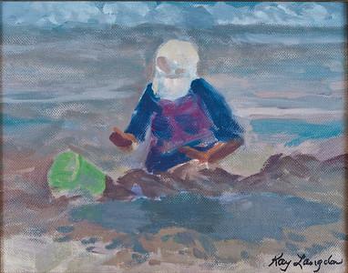 Name: The Green Pail (SOLD) Medium: Acrylic on Canvas Size:  8x10 Contact: Kay Langdon E-Mail: kdlangdon@yahoo.com