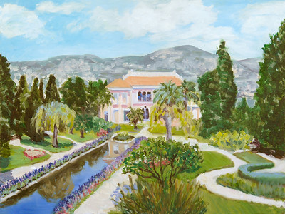 Name: Cap D' Antibes - France Medium: Oil on Canvas Size:  18x24 Contact: Kay Langdon E-Mail: kdlangdon@yahoo.com