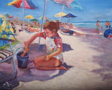 Name: Day at the Beach Medium: Oil on Canvas Size: 24X30 Contact: Kay Langdon E-Mail: kdlangdon@yahoo.com