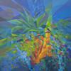 Kyaw Soe, Flower Pot in the Air (2), Acrylic on Canvas, 2013. 24 X 24 in.