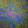 Kyaw Soe, Hidden Flowers, Oil on Canvas, 2013. 36 X 36 in