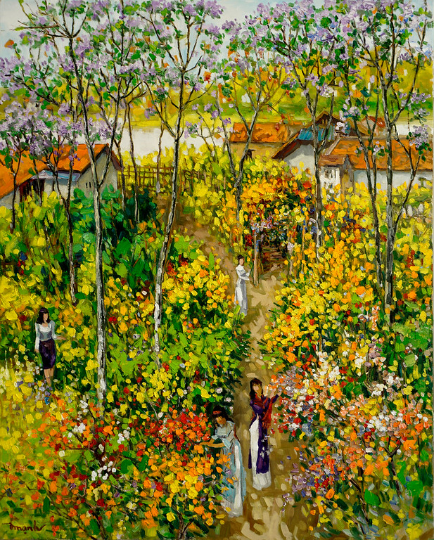 Lam Duc Manh - In the Flower Garden