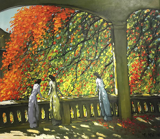 Le Thanh Son - Sunlight through the Blossoms