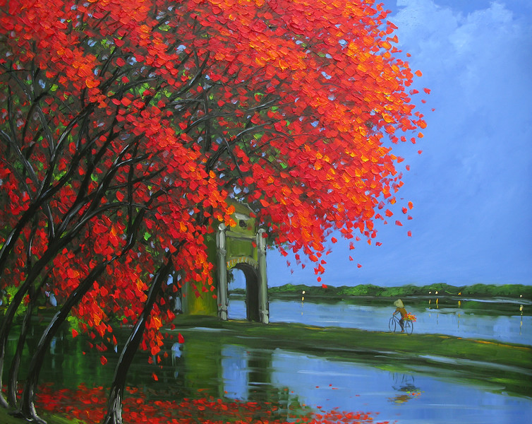Flame Tree at the Tran Quoc Pavillion