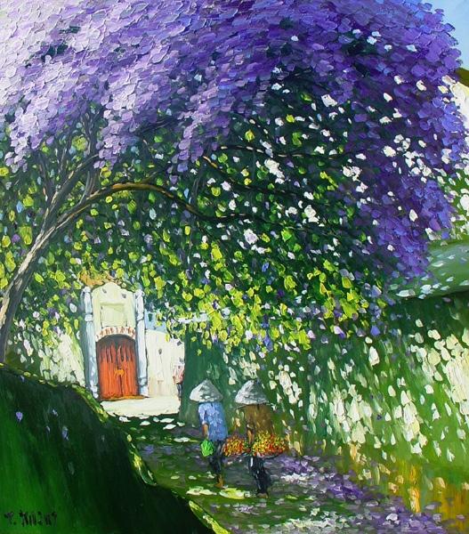 Le Thanh Son - Purple Blooms