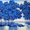 Lim Khim Katy, Morning in Blue; Oil on canvas; 36 x 40 in ; 2013 <b> (SOLD) </b>