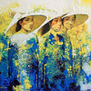 Lim Khim Katy, Women in Saigon, 2013. Oil on canvas, 36 X 40 in.