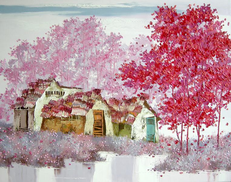 Lim Khim Katy, Grass and Flowers, 80 X 100 cm <b>(SOLD) </b>