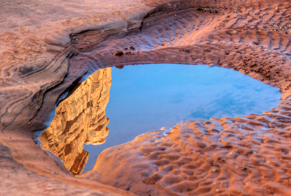 Reflection. Arches National Park, Utah