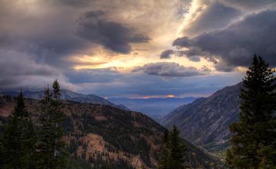Sunset.  Snowbird, Utah