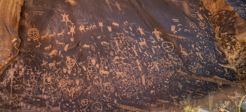 Petroglyphs. Canyonlands National Park (Needles District), Utah