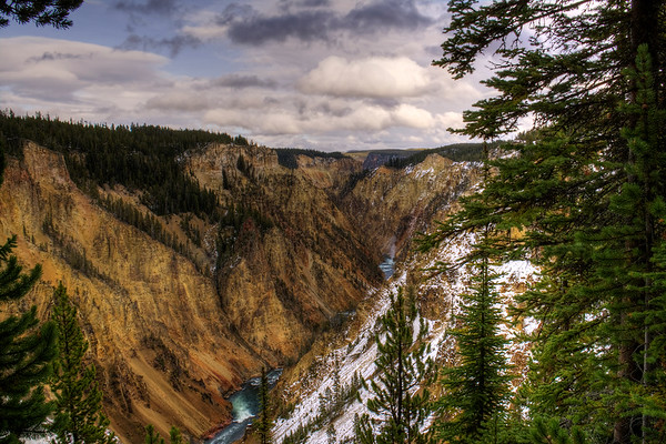 Yellowstone Canyon facing away from Upper Falls