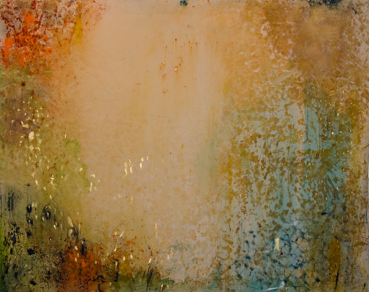into the empty, 123 x 94 - mixed media on canvas