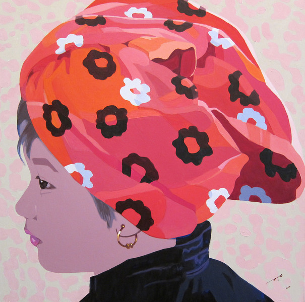 Maung Aw; Turban Kid (6); 2012.  Oil on canvas, 39 x 37 in. <b> SOLD