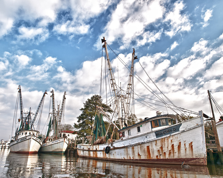 "Name: The Georgetown Fishing Fleet (Landscape)<br /> Medium: Photography<br /> Size: <br /> Price: $<br /> Contact: Mike Covington<br /> E-Mail: mike@lowcountryphotos.com <br /> For a print of this work, go to  <a href=""http://www.lowcountryart.org"">http://www.lowcountryart.org</a>"