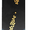 Nann Nann, Peaceful (3),2011. Gold leaf and acrylic on canvas, 24 X 48 in <b>SOLD</b>