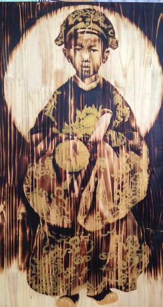Ngo Van Sac, Last Empire 1, 2013. Woodburn, 24 X 43 in.