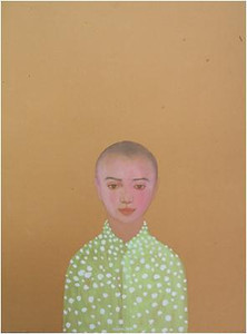 Nguyen Minh Thanh, Welcome Myself to the World, 2012. Guoache on Dzo Paper, 33 X 24 in.