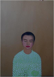 Nguyen Minh Thanh, I am staying, 2012. Guoache on Dzo Paper, 33 X 24 In.