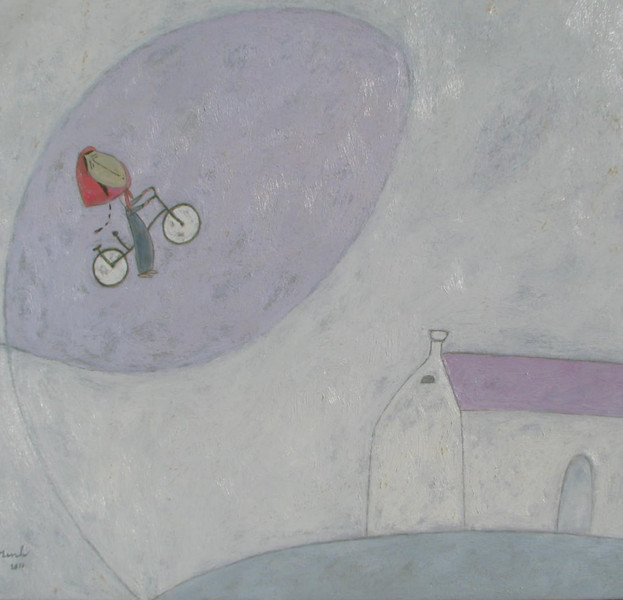 Nguyen Quang Minh, Joyful Ride, oil on canvas, 31 X 27 in