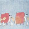 Nguyen Quang Minh, Good Friends, Watercolour, 2014.  24 X 35 in. <b> SOLD </b>