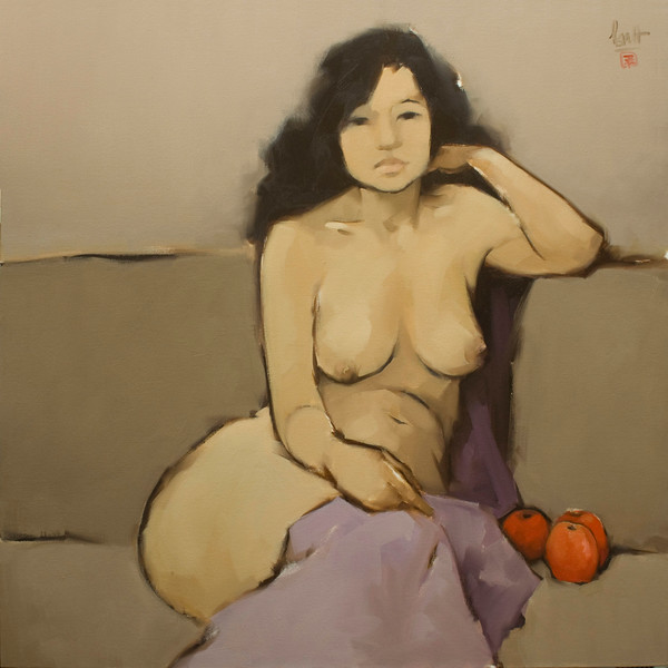 Nude of a Woman with Apples