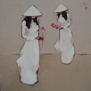 Nguyen Thanh Binh untitled  80cm x 80cm Oil in Canvas Private Collection - Tokyo
