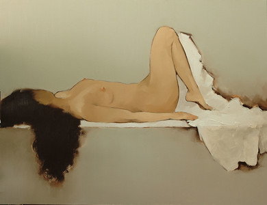 Nguyen Thanh Binh    Nude    100cm x 130cm    Oil on Canvas Private Collection - Singapore