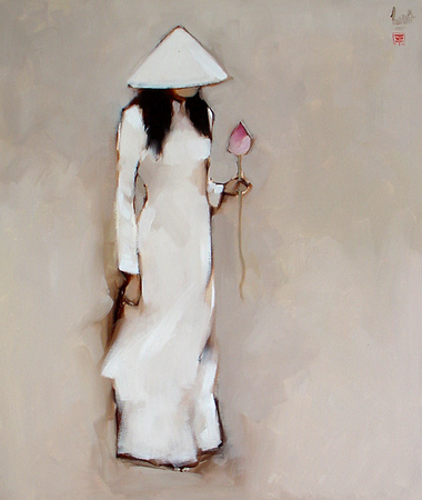 Nguyen Thanh Binh untitled 80cm x 95cm Oil on Canvas Private Collection - Tokyo
