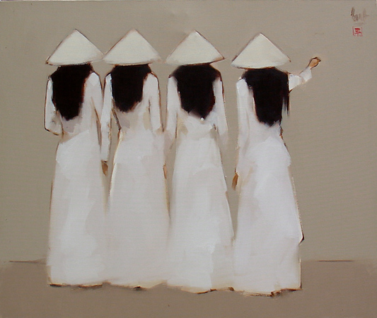 Nguyen Thanh Binh<br /> Untitled<br /> Oil on Canvas<br /> 80cm x 95cm<br /> Private Collection - New York