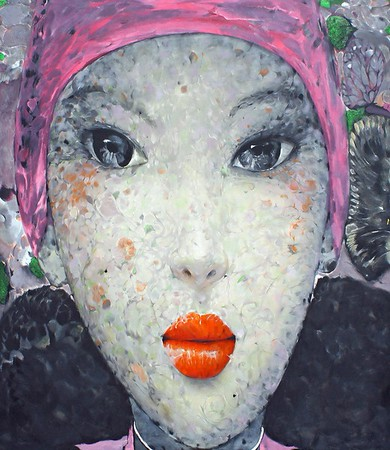 Nguyen Van Cuong  - Woman with Pink Scarf